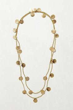 Coin-Fringe Necklace - anthropologie.com  I would really like to see something like this in my Fix.