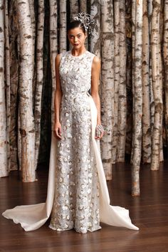 Naeem Khan Spring 2015 Bridal Collection - Naeem Khan from 2015 Wedding Dresses, Wedding Attire, Bridal Dresses, Wedding Gowns, Naeem Khan Bridal, Bridal 2015, Bridal Fashion Week, Harpers Bazaar, The Dress