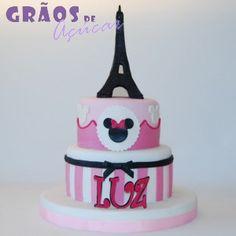 Minnie Paris   Esculpido   bolo 1 aniversario   Grãos de Açúcar - Bolos decorados - Cake Design