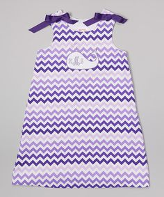 This Purple Zigzag Whale Monogram Jumper - Infant & Toddler by Lollypop Kids Clothing is perfect! #zulilyfinds