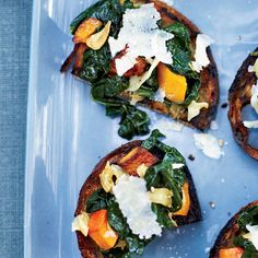 Squash and Kale Toasts
