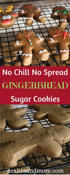These are the tastiest Gingerbread sugar cookies ever! #6cakesandmore #gingerbread #sugarcookies #recipes