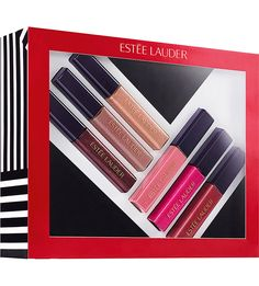 este lauder shine on pure color envy sculpting gloss collection of six gift set