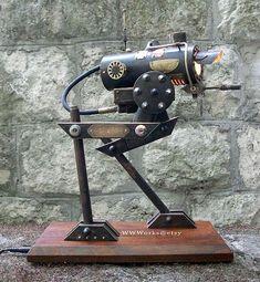 AT-SP Walker Steampunk Desk Lamp - Randommization Steampunk Desk, Steampunk House, Steam Punk Room, Funky Lamps, Diy Lamps, Recycled Lamp, Insulator Lights, Industrial Floor Lamps, Industrial Design