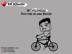 Ek Khushi IN CHILDHOOD First ride on your Bicycle