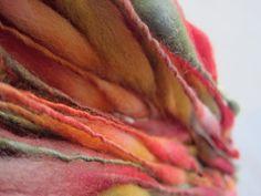 Handspun yarn extreme thick and thin by HamptonArtisticYarns.