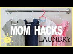 What's Up Moms showcases 'mom hacks' to make doing laundry easier Mama Hacks, Life Hacks, Whats Up Moms, Baby Bottle Storage, Laundry Rack, Doing Laundry, Laundry Tips, Household Chores, Household Tips