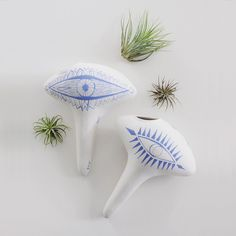 Hand-painted stoneware plant watering spikes gently release water to keep moisture levels balanced in your plants.