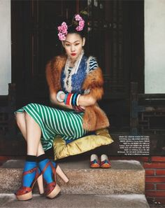 """Winter Flowers"" by Bo Lee for Vogue Korea  So much colour, pattern and texture <3"