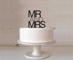 Contemporary Wedding Cake Toppers  Mr & Mrs  by stuffaboutthings, $19.90....love!