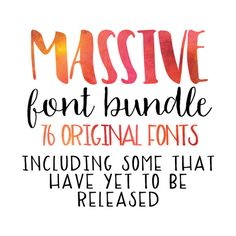 2015 MASSIVE Font Bundle by OnTheSpotStudio on @creativemarket (aff) A Huge collection of fonts great for printables and crafts.