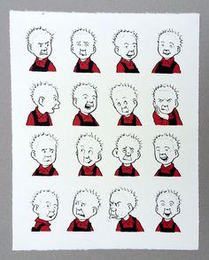 Oor Wullie pulls faces - The Comic Art Website Character Illustration, Illustration Art, Cartoon Museum, Museum Shop, Making Faces, Silk Screen Printing, Vintage Travel Posters, Art Studios, Paper Dolls