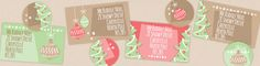 """Winter Wishes"" Christmas Address Label Templates + Seals"