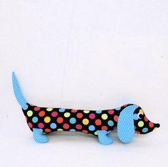 Ready to Ship Stuffed Wiener Dog Plush Toy Childrens Baby Toy Soft Doll SYLVIA. $28, via Etsy.