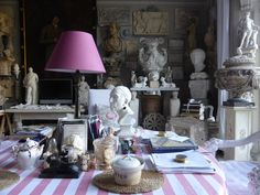 I've admired the magical London home of plaster artist Peter Hone countless times over the years, and it's about time I shared it with you! Brimming with antiques, architectural fragments, and general loveliness (that pink tablecloth!), the busy Ladbroke Square flat is both dizzying and inspiring. It reminds me of a living Sir John Soane Museum (one …