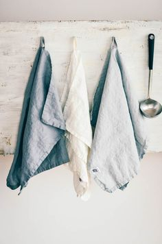 Linen towels (FREE SHIPPING). Set of 3 washed natural, eco - friendly, handmade linen towels