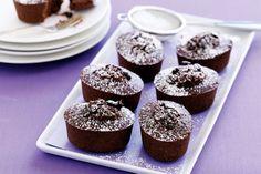 How to make Choc hazelnut and coffee friands (recipe) Mini Desserts, Chocolate Desserts, Winter Desserts, French Desserts, Chocolate Decorations, Plated Desserts, Funnel Cakes, Tea Cakes, Mini Cakes
