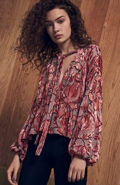Alexis Velvet Floral Blouse