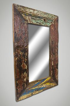 Rustic Eco Friendly Reclaimed Wood Mirror