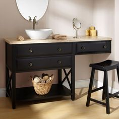 Bathroom Makeup Vanity bathroom vanity with makeup vanity attached | choice of sink and
