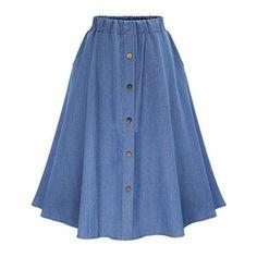 Boho Chic Skirt (105 BRL) ❤ liked on Polyvore featuring skirts, bohemian style skirts, bohemian skirts, blue skirt and boho skirts