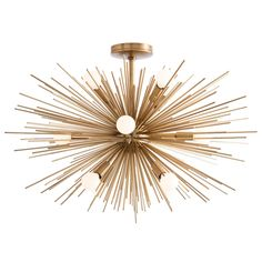 """Especially designed for spaces with lower ceilings, this new addition to our starburst Zanadoo collection has 12-lights. When installed with the 6"""" pipe it hangs only 18.5"""" from the ceiling. Its steel"""