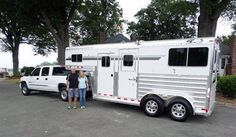 Congratulations to Jennifer and Rick Hall from Grant, FL on their new Deluxe 4-Star 2H Gooseneck Straight Load trailer from L.A. Trailer Sales, LLC!!  Thank you! (800) 350-0358