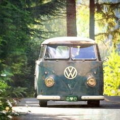 """Marmont Hill N/A 18 Inch x 18 Inch """"Peace Love Nature"""" Giclee Art Print on Stretched Canvas by Robin Delean Volkswagen Bus, Vw T1, Vw Camper, Canvas Art Prints, Painting Prints, Abstract Paintings, Combi Vw, C 18, Van Life"""