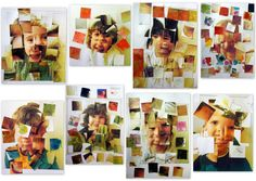 neat idea for portrait easy enough for grade schoolers