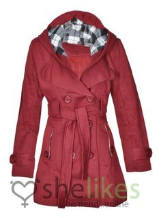 New Womens Hooded Belted Fleece Button Coat Ladies Check Hood Jacket Size 8-14 UK 10 US 6 WINE OutofGas Clothing,http://www.amazon.com/dp/B00E97KSPC/ref=cm_sw_r_pi_dp_g5-nsb0AHZN3H5YW