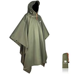 Anyoo Waterproof Rain Poncho Lightweight Reusable Hiking Hooded Coat Jacket for Outdoor Activities ✅Keep You Dry: This is a upgraded version of Anyoo rain poncho. This new poncho features a soft plastic cap-design part on the hood to further protects your face from rains. There are snap closures on front placket neck opening, suitable for all head size. Weighs only 12 oz, the poncho is so ultralight that can be stuffed into your backpack. It is also easy to be compressed into its storage bag to Camping Gift Baskets, Camping Gifts, Poncho Raincoat, Rain Poncho, Rafting, Rain Gear, Winter Coats Women, Color Negra, Outdoor Activities