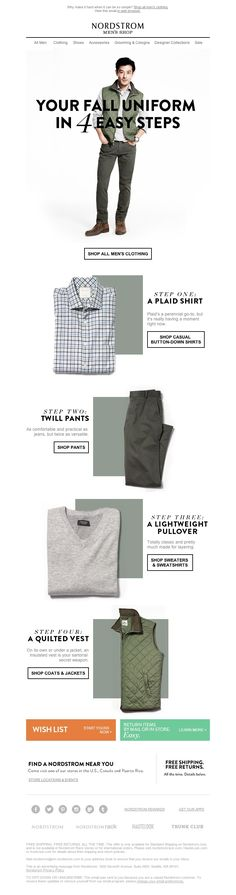 Nordstrom - Your fall uniform in 4 easy steps