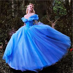 New Ball Gown Prom Dresses 2016 film Blue Deluxe Cinderella Cosplay Party dresses princess dress girl Sexy Club Dress 2015 (China (Mainland))