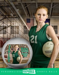 Click to learn more about the perfect volleyball gift and prize: a high quality volleyball personalized with photos and designs that the athlete and volleyball fan in your life will love. Customize your own with Make A Ball!
