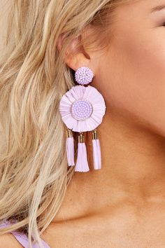 When you're looking to make a statement, the last thing you want is to put on a pair of earrings, and then have them fall flat against an outfit that outshines Pendant Earrings, Tassel Earrings, Statement Earrings, Crochet Earrings, Stud Earrings, Jewelry Trends, Jewelry Accessories, Fall Flats, Bracelet