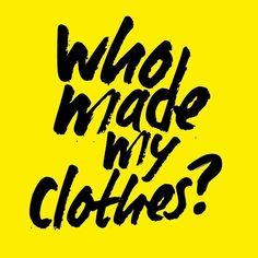 """Fashion Revolution'un sosyal medya kampantasına nasıl katılırsınız? Öğrenmek için sağa kaydırın! Hep beraber """"Giysilerimizi kim yaptı?"""" diye soralım. Peki neden soruyoruz bu soruyu? Çünkü giysilerimizi seviyoruz ve onların nereden geldiğini bilmek istiyoruz bu değer verdiğimiz objelerin üretiminde yer alan insan ve doğal kaynakların iyiliğini istiyoruz ve markalardan bir şeffaflık talep ediyoruz!  #fashionrevolution #gununkaresi #instaturkey #instaturkiye"""