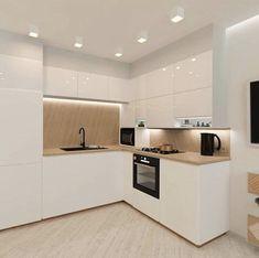 Ikea Kitchen Design, Kitchen Cabinet Design, Modern Kitchen Design, Home Decor Kitchen, Interior Design Kitchen, Home Kitchens, L Shape Kitchen, Small Modern Kitchens, Elegant Kitchens