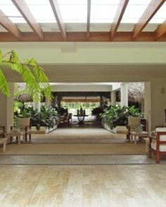 The open lobby is done up in a neutral cream palette and tropical woods. #Jetsetter  http://www.jetsetter.com/hotels/dominican-republic/peninsula-de-samana/3038/sublime-samana-hotel