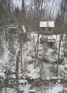 Winter Cabin Quebec - New Winter Cabin Quebec, Stilts Elevate This Small Winter Cabin by Delordinaire Above A