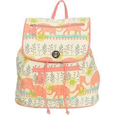 Capri Designs Sarah Watts Slouch Backpack (€61) ❤ liked on Polyvore featuring bags, backpacks, orange, handbag satchel, draw string backpack, drawstring flap backpack, satchel backpacks and polyester drawstring backpack