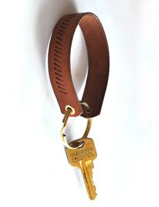 Natural Tooled Strap Key Chain $20.00