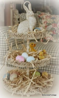 Bunny Tiered Tray, so cute for Easter