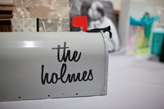 CUSTOM vinyl mailbox decal by MissPrissyPaige on Etsy, $8.00