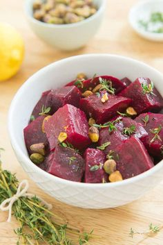 Simple yet full of flavor, these Lemon Thyme Roasted Beets are a healthy side or snack to make and keep on hand in the fridge. It's Whole30, paleo, gluten-free, vegan, and many other types of eating styles.