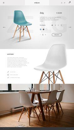 Sit & Zen store on Web Design Served Web Ui Design, Page Design, Layout Design, Website Design Inspiration, Layout Inspiration, Chair Design, Furniture Design, Marketing Website, Template Web