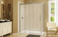"MAAX - Halo 60"" Corner Shower Door  www.maax.com"