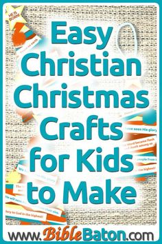Dec 11, 2019 - Need easy children's Christmas crafts for your Sunday School or children's ministry? Here are the best Christian Christmas crafts for kids to make... Christian Christmas Crafts, Childrens Christmas Crafts, Preschool Christmas Crafts, Christmas Bible, Christmas Craft Projects, Christmas Crafts For Kids To Make, Christmas Ideas, Fun Activities For Kids, Learning Activities