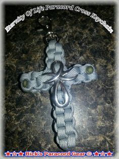 Eternity of Life Paracord Cross by yours truly Rick Paracord aka Rick's Paracord Gear