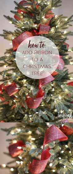 Tips and Tricks for adding ribbon to your Christmas Tree. #christmastree #christmas #decor #holiday