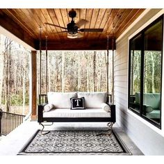 Items similar to Hanging Porch Bed Swing on Etsy Hanging Porch Bed, Hanging Beds, Hanging Chairs, Outdoor Hanging Bed, Hanging Rope, Crib Swing, Pallet Swing Beds, Wood Swing, Casa Patio